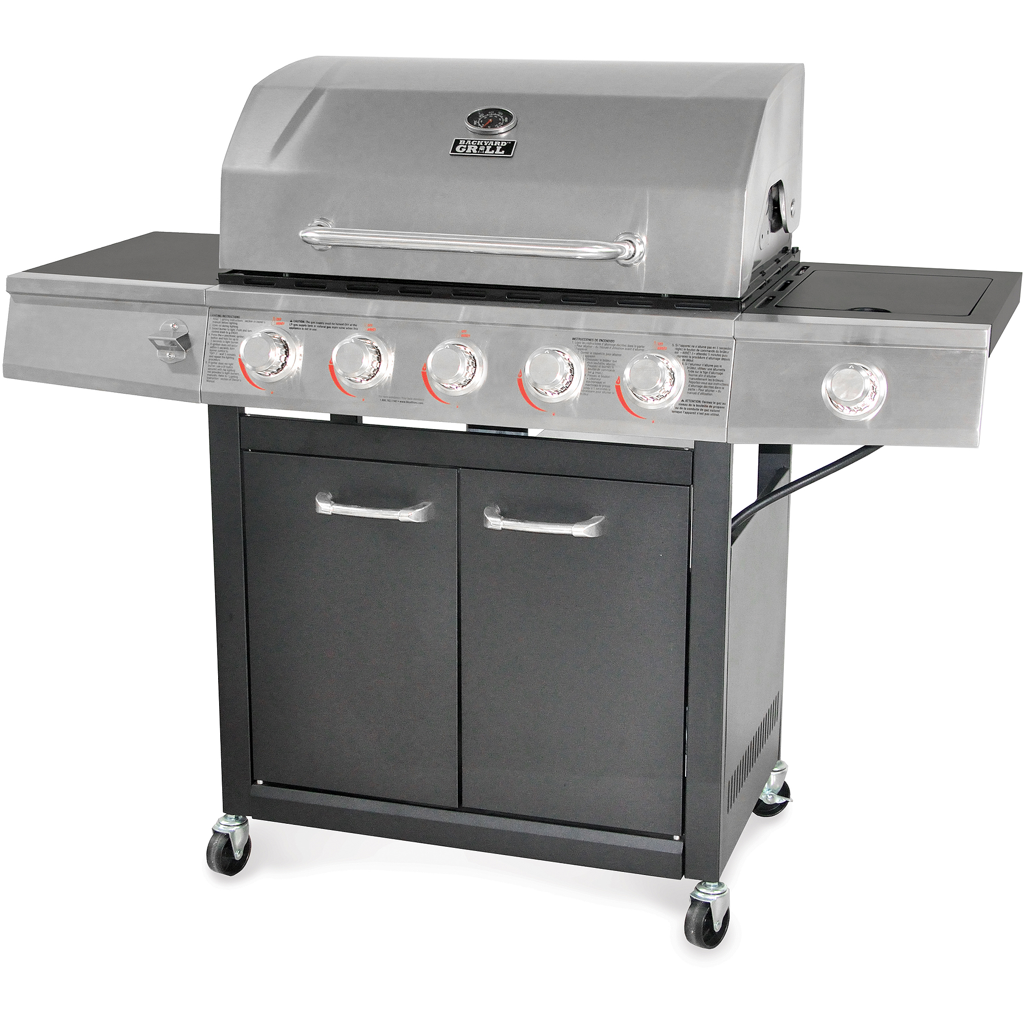 Backyard Grill 5-Burner Gas Grill, Stainless Steel