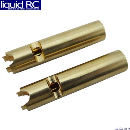 Hot Racing SCX12AW Brass Axle Tube Weights (2) - SCX10 (Scx10 Axle Tubes)