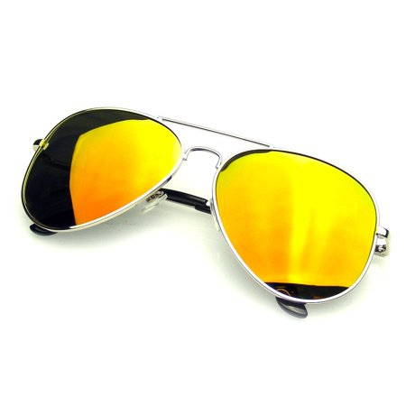 b09d87eec6 Emblem Eyewear - Emblem Eyewear - Aviator Sunglasses Vintage Mirror Lens  New Men Women Fashion Frame Retro Pilot - Walmart.com
