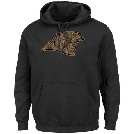 Carolina Panthers Majestic Nfl  Camo Tek Patch  Mens Hooded Sweatshirt