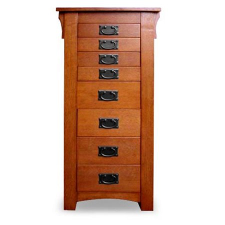 Powell Mission Oak Jewelry Armoire (Mission Style Jewelry Armoires)