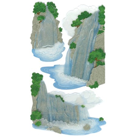 Dimensional Waterfall - Jolee's Boutique Dimensional Stickers, Vellum Waterfall