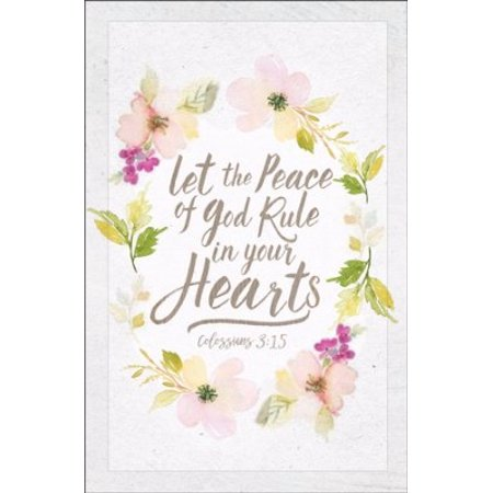 Bulletin-Wedding-Let The Peace Of God (Colossians 3:15 KJV) (Pack Of 100)](Wedding Bulletins)