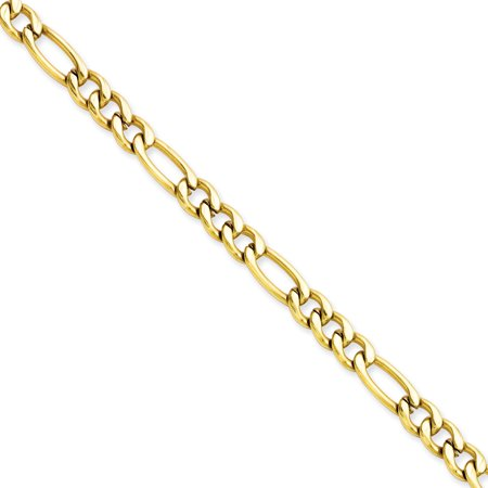 Ip Plated Bracelet (Stainless Steel 8in IP Gold-plated 6.30mm 8in Figaro Chain)