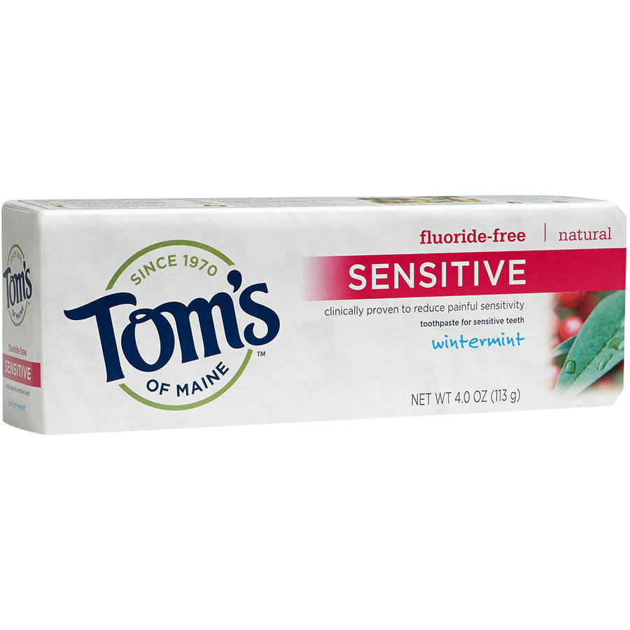 Tom's of Maine Sensitive Wintermint Natural Fluoride-Free Toothpaste, 4 oz