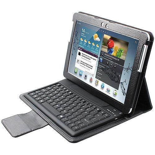 2COOL - Keyboard and folio case - Bluetooth - black keyboard, black case - for Samsung Galaxy Tab 10.1, Tab 10.1 WiFi
