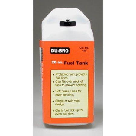 420 S20 Square Fuel Tank 20 - Coiled Remote 20 Oz Tank