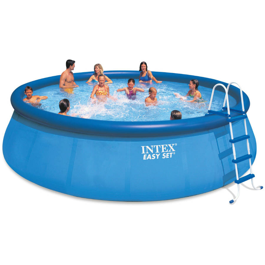 "Intex 18'x48"" Easy Set Above Ground Swimming Pool with Filter Pump"