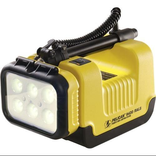 Pelican 094300-0001-245 3,000 Lumen Portable Remote Area Lighting System 9430 With 6 Led Worklights, Yellow