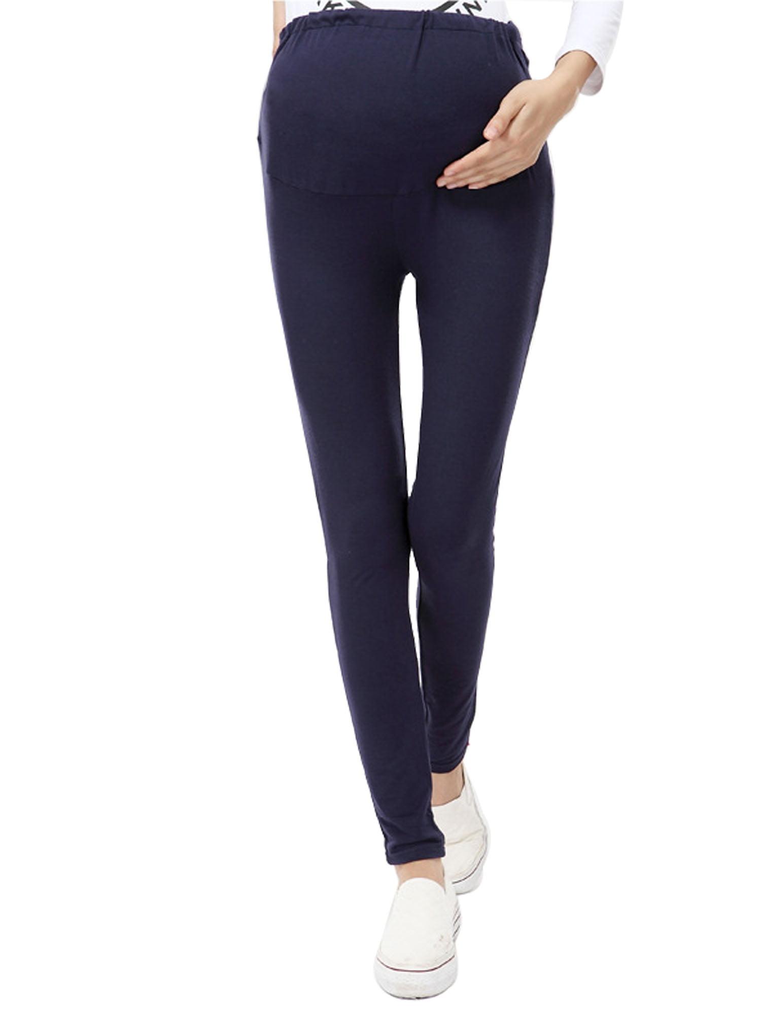 Fit Stretch Over Bump Maternity Pregnancy Leggings, 7397_Dark Blue