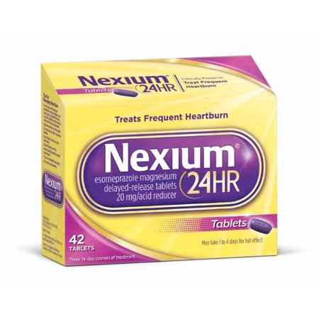 Nexium 24Hr Delayed Release Heartburn Relief Tablets  Esomeprazole Magnesium Acid Reducer  20Mg  42 Count