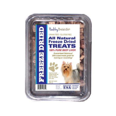 Healthy Breeds Yorkshire Terrier All Natural Freeze Dried Dog Treats Beef Liver 10 oz