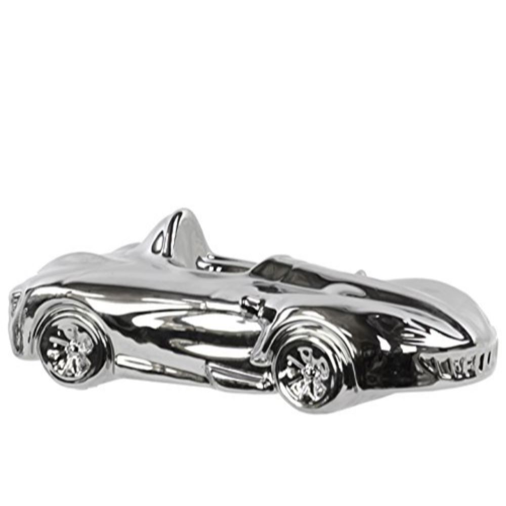 21226 Ceramic Decorative Car Silver - Chrome Silver