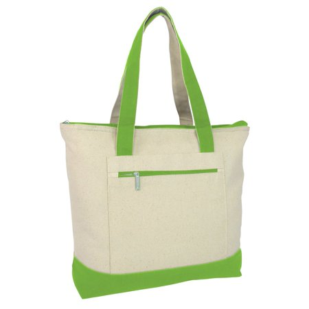 18 Stylish Canvas Zippered Tote Bag W Zipper Front Pocket Pool Beach Ping Travel