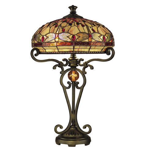 Dale Tiffany Dragonfly 23.5'' H Table Lamp with Bowl Shade