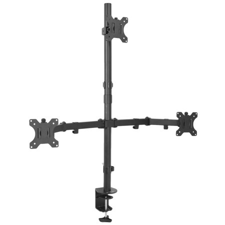 VIVO Triple LCD Monitor Desk Mount Stand Heavy Duty & Fully Adjustable 3 Screens up to 30