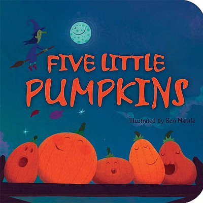 5 Little Pumpkins (Board Book) - Halloween Five Little Pumpkins
