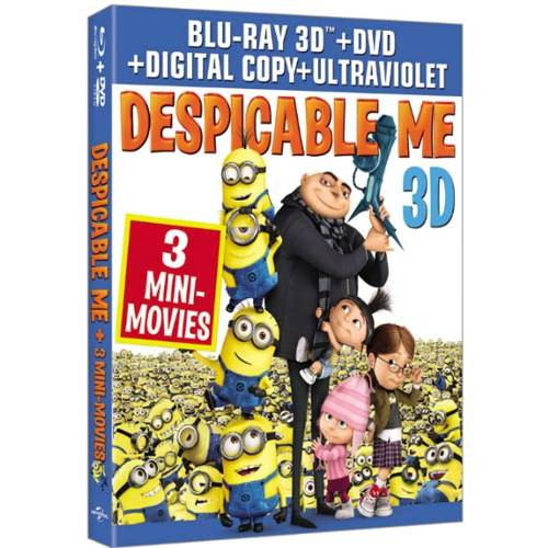 Despicable Me (3D Blu-ray + DVD + UltraViolet) (Widescreen)