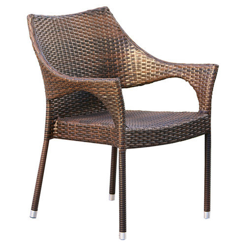 Home Loft Concepts Norm Outdoor Wicker Arm Chair (Set of 2)