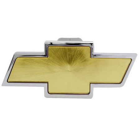 PilotBully CR132 Chevrolet Chrome With Gold Center Hitch Cover