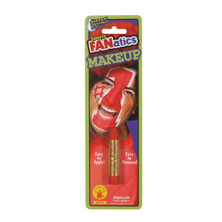 Red Sports Fanatic Makeup Stick Colored Halloween Costume Face Paint Accessory - Snick Halloween