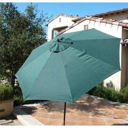 Covered Living 9ft aluminum market umbrella crank & tilt color Hunter -
