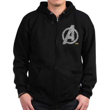 Name Zip - CafePress - Avengers Infinity War Names - Zip Hoodie, Classic Hooded Sweatshirt with Metal Zipper