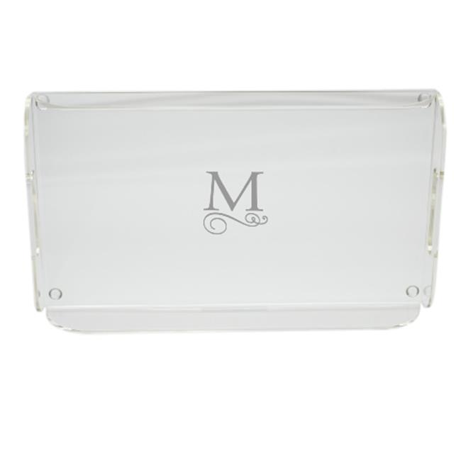 Carved Solutions Acrylic Serving Tray With Handles-Pi-Flourish-O - image 1 de 1