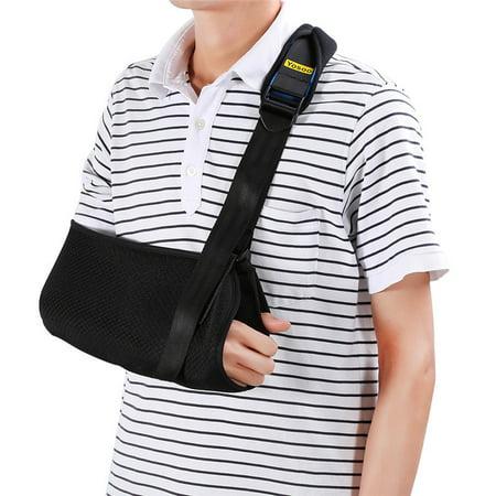 Qiilu Universal Arm Sling Adjustable Soft Padded Shoulder Strap Shoulder Sling Medical Arm Support for Rotator Cuff, Surgery & Broken (Average Recovery Time For Rotator Cuff Surgery)