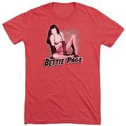 Bettie Page Pin Up Queen Mens Tri-Blend Short Sleeve Shirt