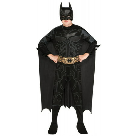 Batman Dark Knight Action Suit Child Costume - Medium](Black Suit Spiderman Costume)