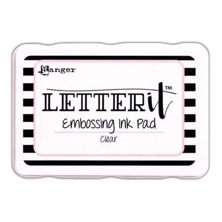 Embossing Stamp Pad - RGRLEI 58809 RANGER LETTER IT EMBOSSING INK PAD CLEAR