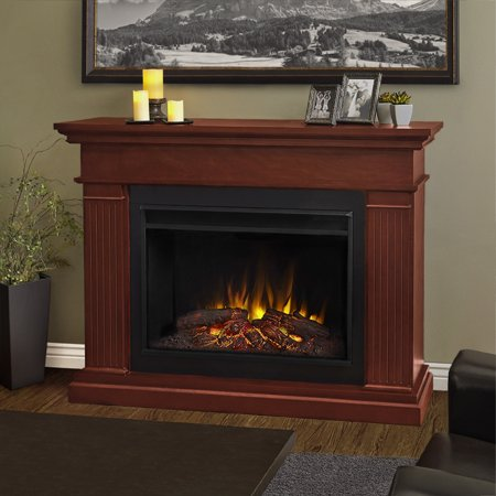 Kennedy Grand Electric Fireplace in Dark Espresso by Real