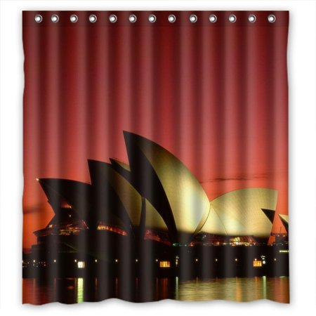 Ganma Sydney Opera House Shower Curtain Polyester Fabric Bathroom Shower Curtain 66x72 inches