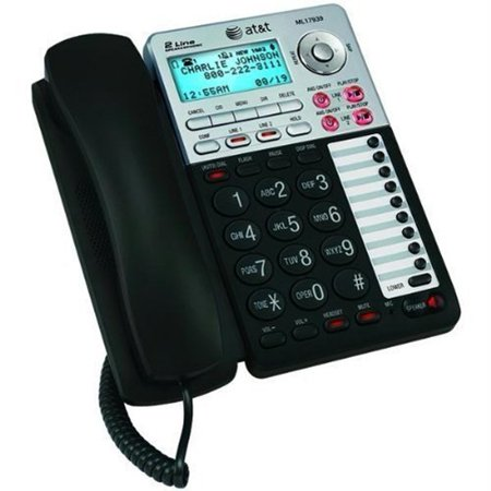 At Ml17939 Two Line Speakerphone With Caller Id And Digital Answering System