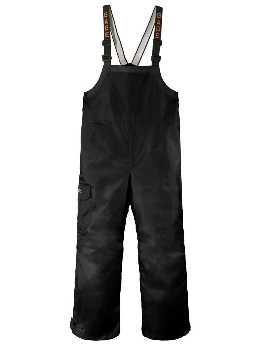 Grundens Weather Watch Bib Pants, Black, Large by Bl