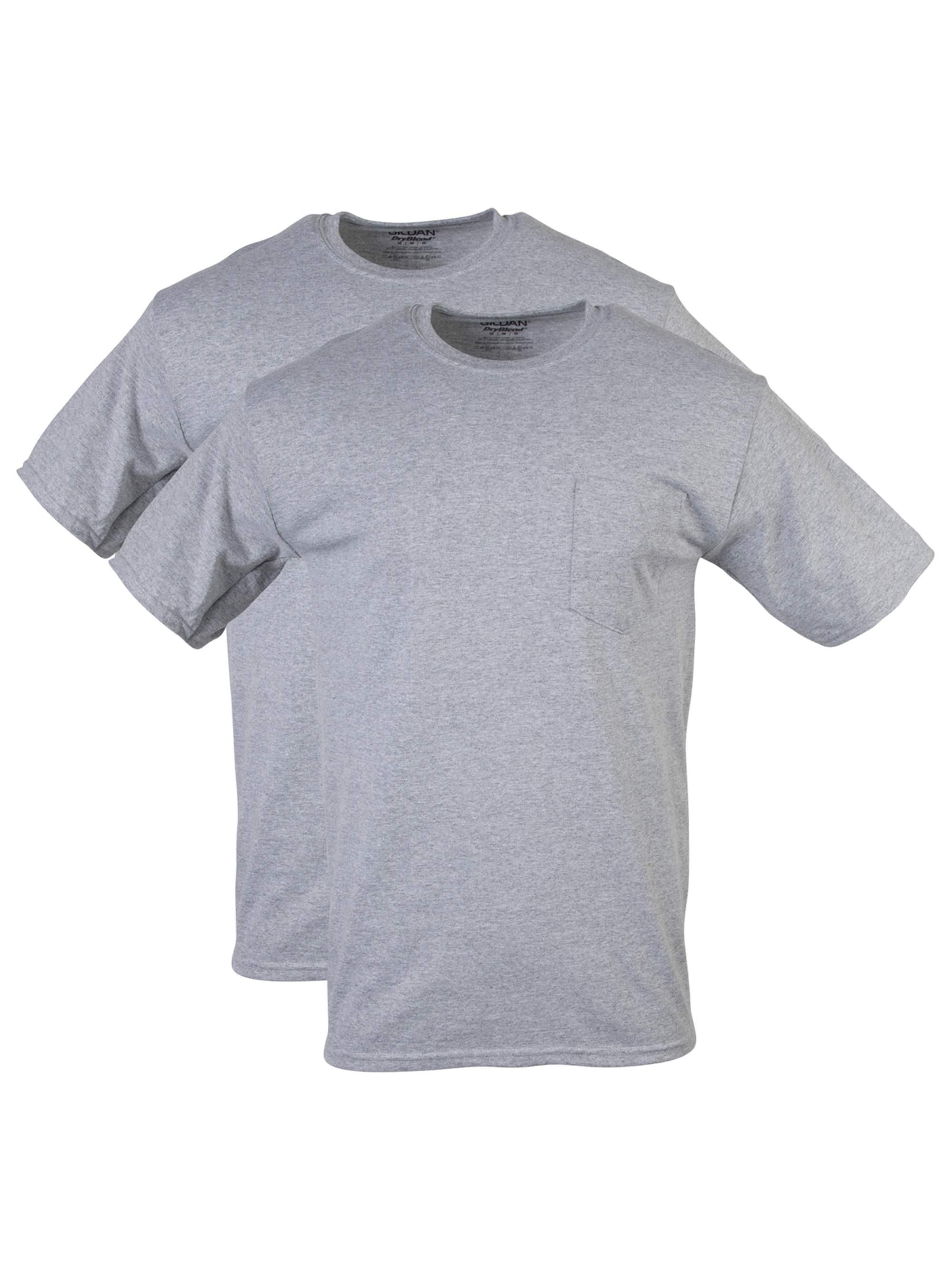 Gildan Men's DryBlend Workwear T-Shirts with Pocket, 2-Pack