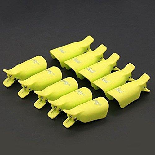 Pana High Quality  Nail Polish Remover Clip Cap - Yellow
