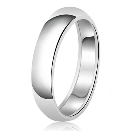 6mm Classic Sterling Silver Plain Wedding Band Ring