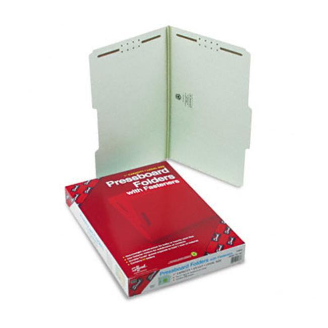 Smead 19980 Pressboard Folder  Two Fasteners  1 inchExpansion  2/5 Cut  Top Tab  Lgl  GG  25/Bx