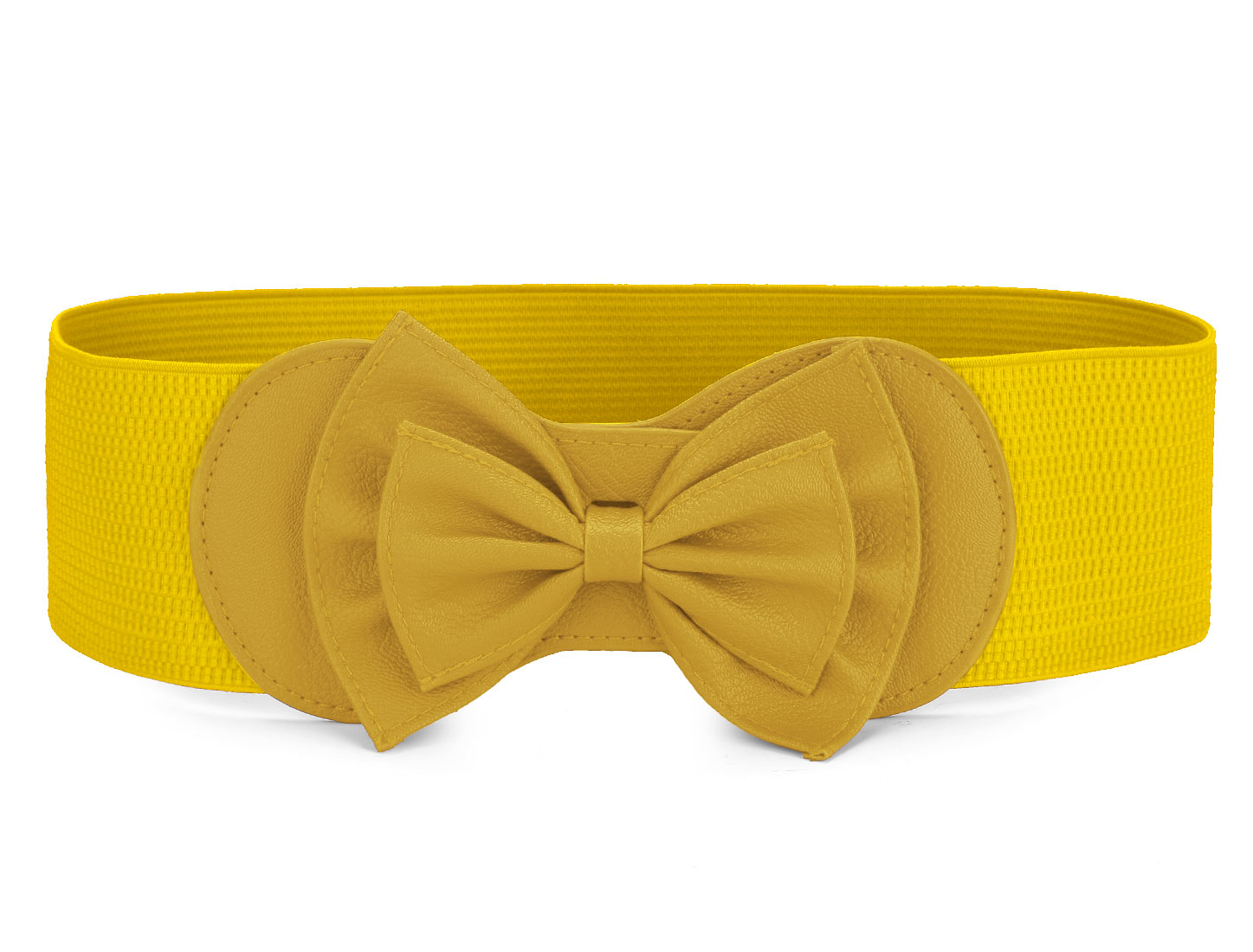 Women/'s Elastic Wide Stretch Comfortable Buckle Bowknot Bow Waist Belt Tie Decor