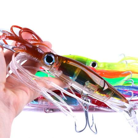 14cm/40g Bionic Squid Baits Artificial Fishing Lures Hard Squid Skirts Octopus Lure Trolling Fishing Baits Fishing Tackle