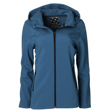BIG CHILL Women's Soft Shell Hooded Zip-Front (Podium Chill Jacket)