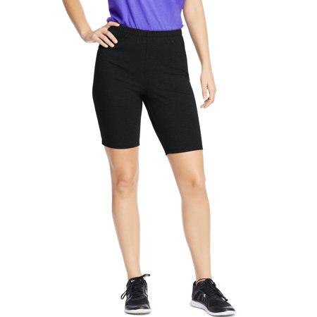 Design History Black Stretch Jersey - Just My Size Women's Plus-Size Stretch Jersey Bike Short