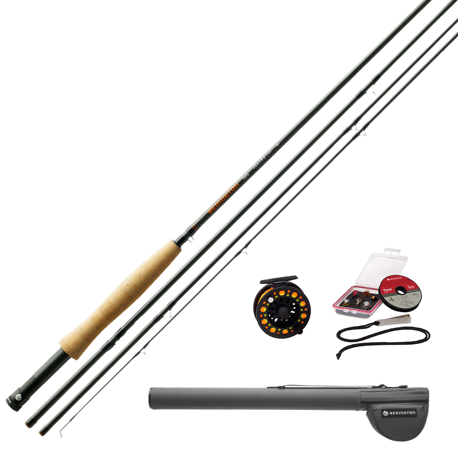 Redington Topo Fly Fishing Outfit, Rod & Reel Kit 9 foot ...