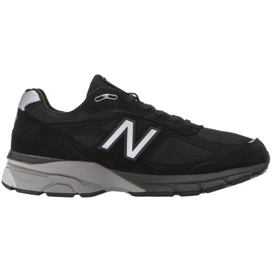 the latest 155e8 e3823 Mens New Balance 990 2E Wide Black Silver M990BK4
