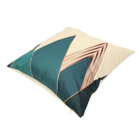 Meigar Blue Deer Simple Style Couch Cushion Pillow Covers 18x18 Square Zippered Cotton Linen Standard Decorative Throw Pillow Covers Slip Case Protector for Sofa Chair Seat  Patio, - image 2 of 5