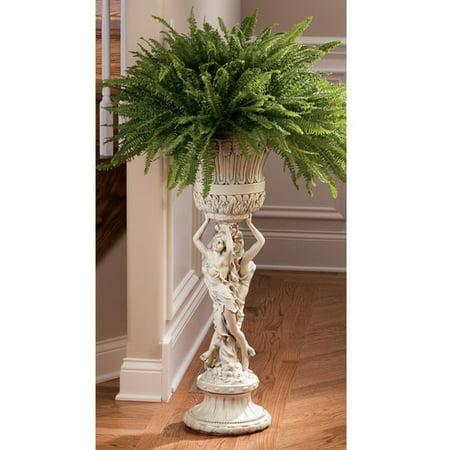 - Design Toscano Neoclassical Les Filles Joyeuses Pedestal Plant Stand