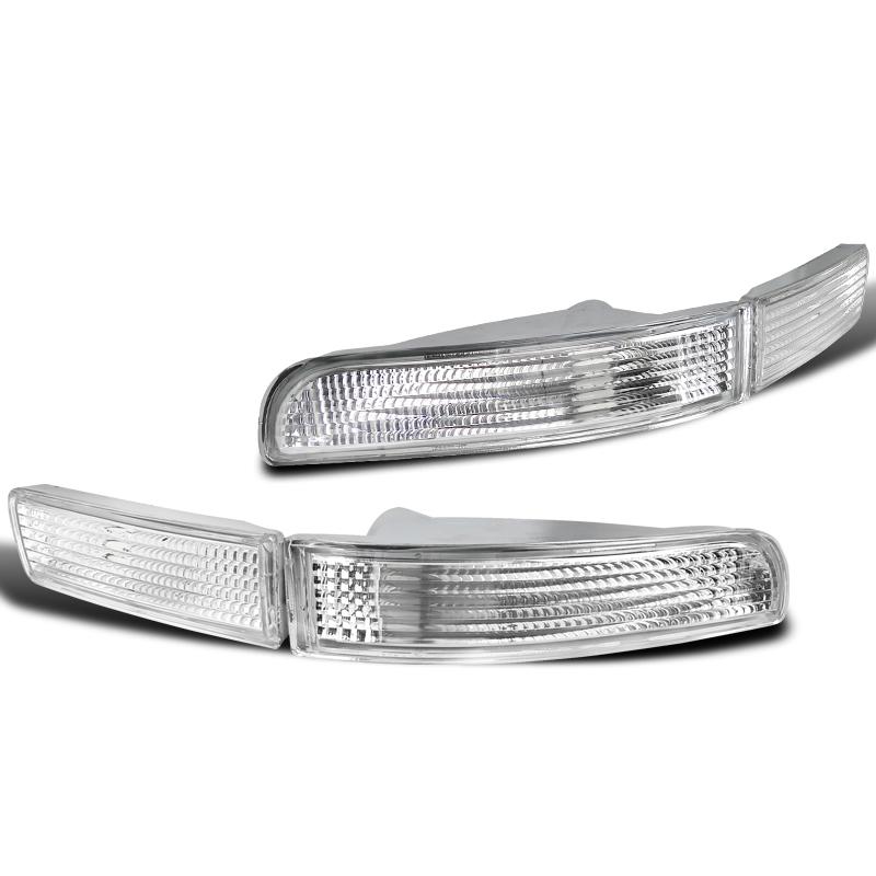 Spec-D Tuning 1995-1999 Nissan Maxima Front Bumper Park Lights Clear Pair 95 96 97 98 99 (Left + Right)