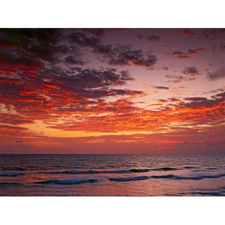 Sunrise Over the Atlantic Ocean, West Palm Beach, Florida Print Wall Art By Adam Jones ()